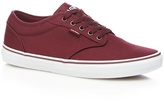 Vans Plum Red 'atwood' Lace-up Trainers