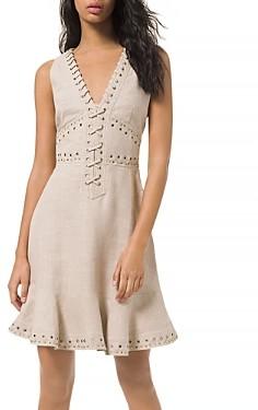MICHAEL Michael Kors Lace Up Linen Dress
