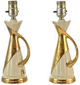 One Kings Lane Vintage,  Ivory/gold/, In Stock