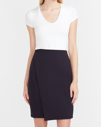 Express High Waisted Supersoft Wrap Front Pencil Skirt