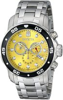 Invicta Men's 80055 Pro Diver Analog Display Swiss Quartz Silver Watch