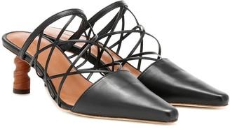 REJINA PYO Lisa leather mules