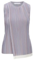 HUGO BOSS - Sleeveless Top In Striped Plisse With Wrap Front - Patterned