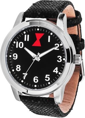 Marvel Comics Marvel Black Widow Women's Sequin Strap Watch