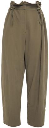 Missoni Gathered Crinkled-gauze Wide-leg Pants