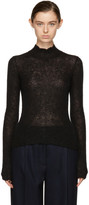 Carven Black Mohair Turtleneck