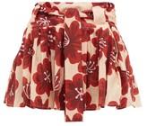 Dodo Bar Or Milli Floral-print Cotton-poplin Mini-skirt - Womens - Cream Print