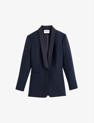 Claudie Pierlot Slim-fit single-breasted twill blazer