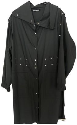 Dirk Bikkembergs Grey Cotton Trench Coat for Women