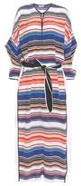 Edun Striped Silk Kaftan Dress