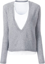 Majestic Filatures layered V-neck jumper