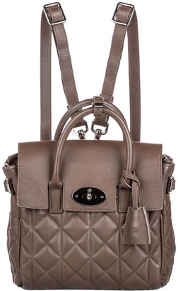 Mulberry Brown Quilted Leather Cara Delevigne Backpack