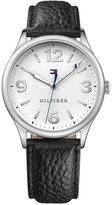 Tommy Hilfiger Women's Black Leather Strap Watch 38mm 1781596