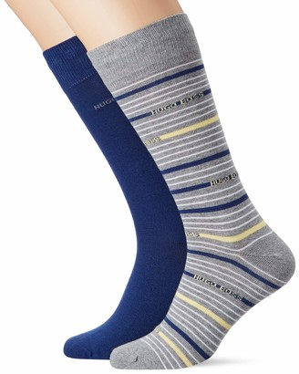 HUGO BOSS Men's 2p Rs Stripe Cc Calf Socks