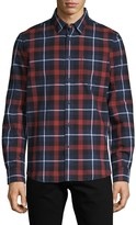 French Connection Checkered Long-Sleeve Shirt