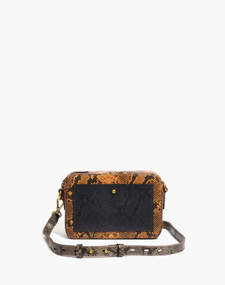 Madewell The Transport Camera Bag: Colorblock Snake Embossed Edition