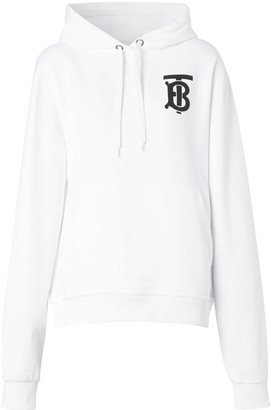 Burberry Tb Logo Cotton Jersey Sweatshirt Hoodie