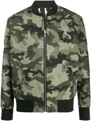 Neil Barrett Thunderbolt camouflage-print reversible bomber jacket