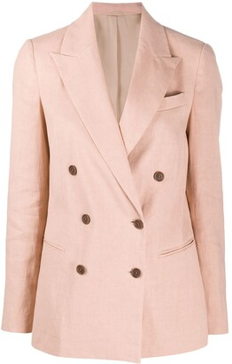Brunello Cucinelli Crinkled Effect Double-Breasted Blazer