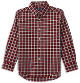 Ralph Lauren Boys' Plaid Twill Shirt - Sizes 4-7