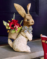 Mackenzie Childs MacKenzie-Childs Large Hare with Faux Flowers