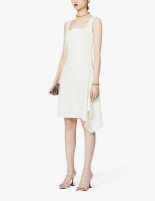 Roland Mouret Caracalla asymmetric stretch-crepe mini dress