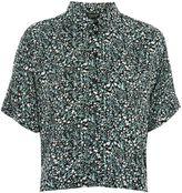 Topshop Ditsy Floral Print Shirt