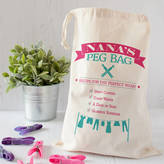 The Little Picture Company Vintage Style Personalised Peg Bag