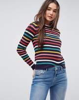 Brave Soul Bright Stripe Sweater