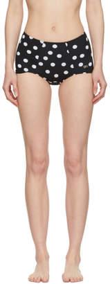 Dolce & Gabbana Black and White High Waisted Bikini Bottom