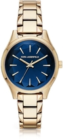 Karl Lagerfeld Belleville Gold-tone PVD Stainless Steel Women's Quartz Watch w/Deep Blue Dial