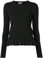 Nina Ricci ruffled hem jumper - women - Silk/Wool - S