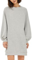 Topshop Women's Balloon Sleeve Sweatshirt Dress