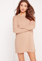 Missguided Tall Sweater Dress Nude