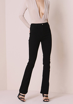 Missy Empire Brittany Black Denim Mid Rise Flared Jeans