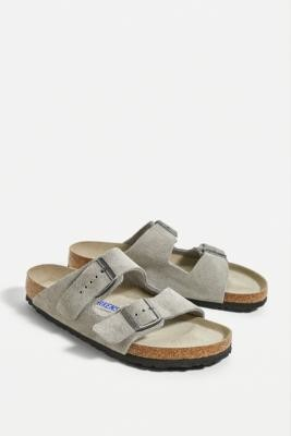 Birkenstock Arizona Suede Sandals - Grey UK 7 at Urban Outfitters