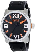 HUGO BOSS BOSS Orange Men's 1512985 Dubai Stainless Steel Watch with Black Silicone Band