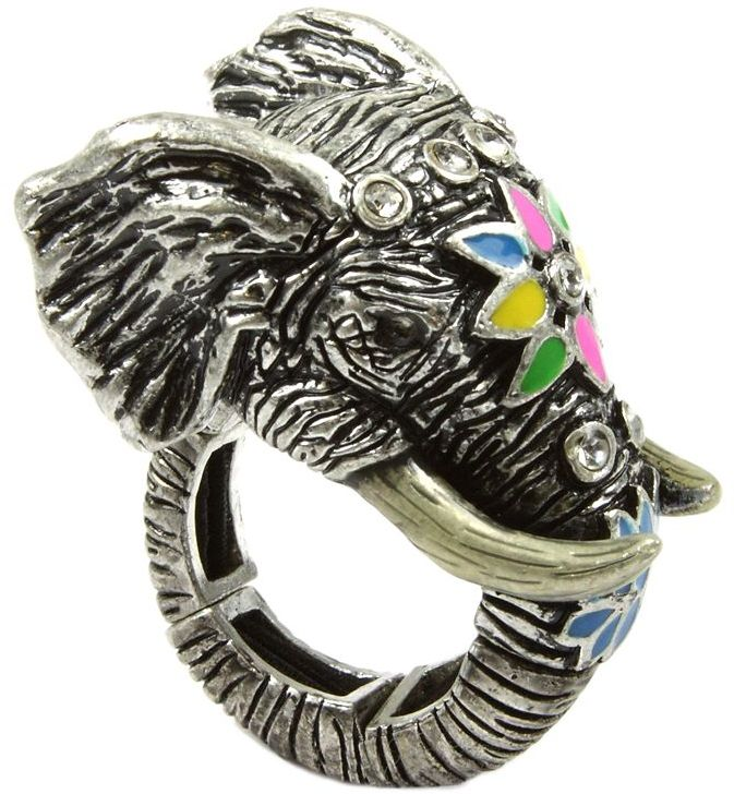 Rachel Roy Ring, Multicolored Elephant