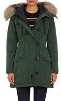 Moncler Women's Fur-Trimmed Aredhel Coat-DARK GREEN