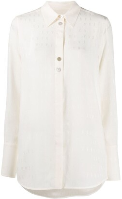 Victoria Victoria Beckham Embroidered Monogram Shirt
