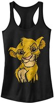 Fifth Sun Women's Lion King Simba Crown Prince Graphic Racerback Tank Top
