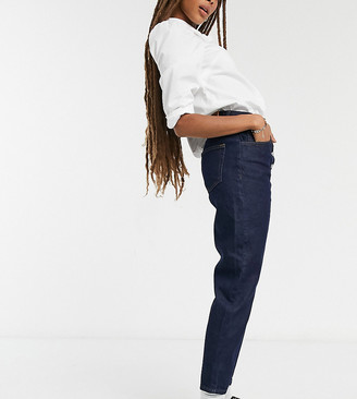 Reclaimed Vintage inspired The '91 mom jean with button front in indigo