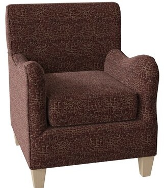 Hekman Alden Armchair Body Fabric: 5607-011, Leg Color: Antique Vanilla, Seat Cushion Fill: Extra Firm