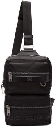 Dolce & Gabbana Black Sicilia DNA Backpack