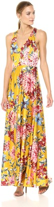 Nicole Miller Women's fit and Flare Gown with Halter Neckline and Back Bow