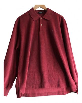 Burberry Burgundy Cotton Polo shirts