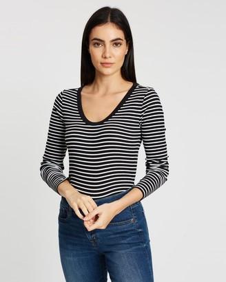 Gap Stripe Scoop Neck T-Shirt