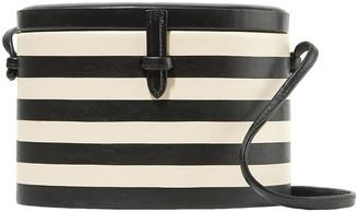 Hunting Season Oval Trunk Striped Leather Shoulder Bag