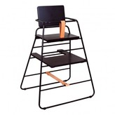 Budtzbendix High Chair Towerchair - Black and Leather