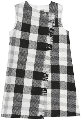 Il Gufo Checked wool-blend shift dress